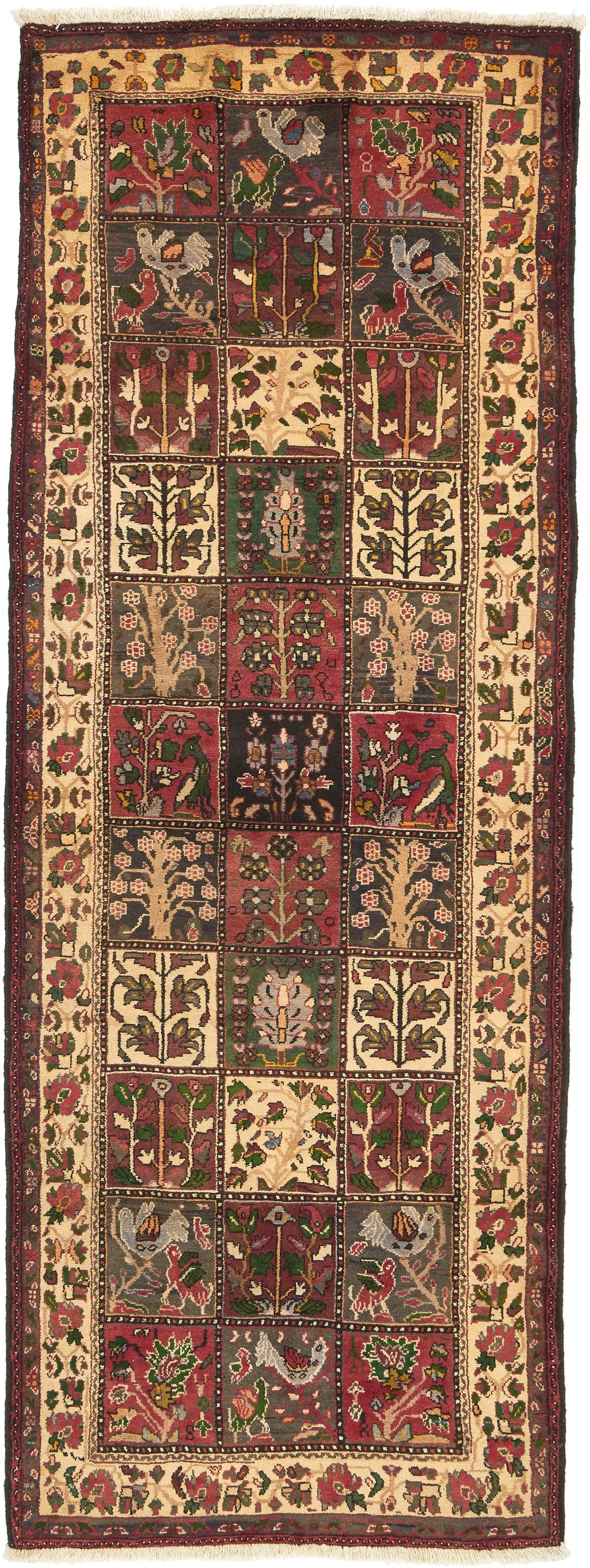 3' 9 x 10' Bakhtiar Persian Runner Rug main image