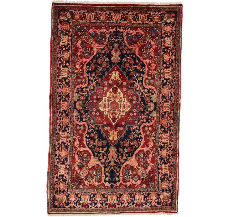 132cm x 213cm Heriz Persian Rug