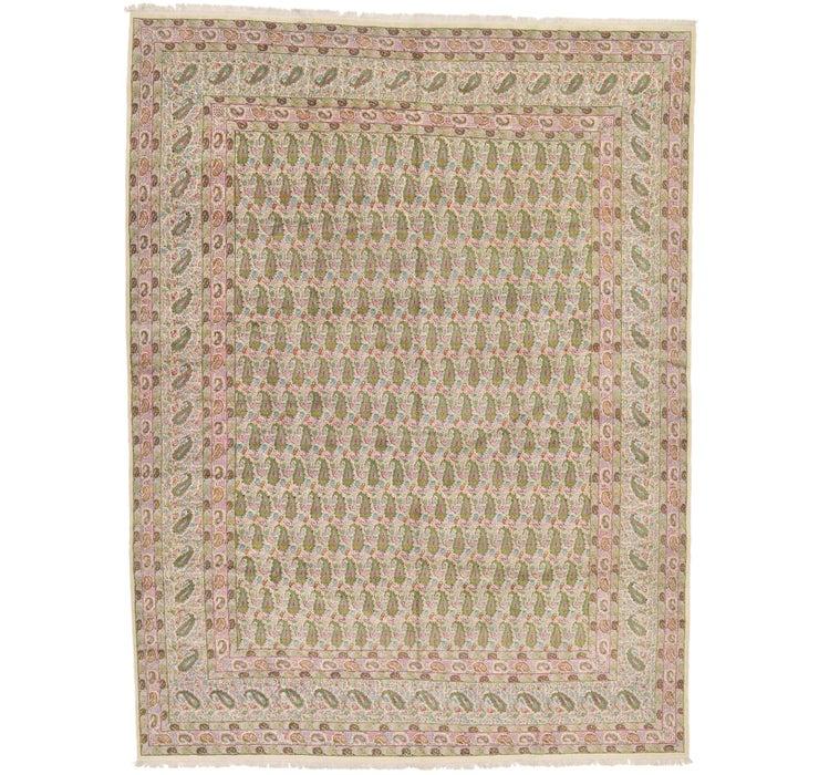 395cm x 523cm Kerman Persian Rug