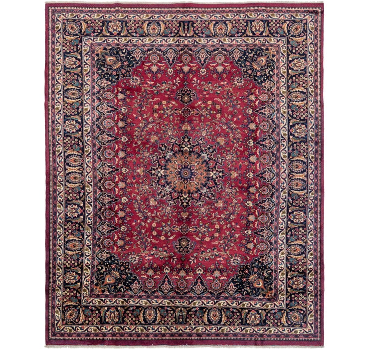 310cm x 385cm Mashad Persian Rug