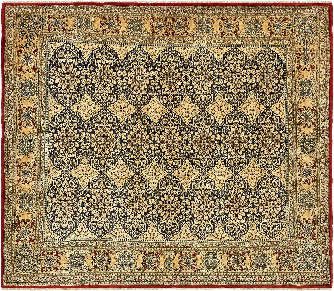 8' 2 x 9' 5 Kerman Persian Square Rug main image