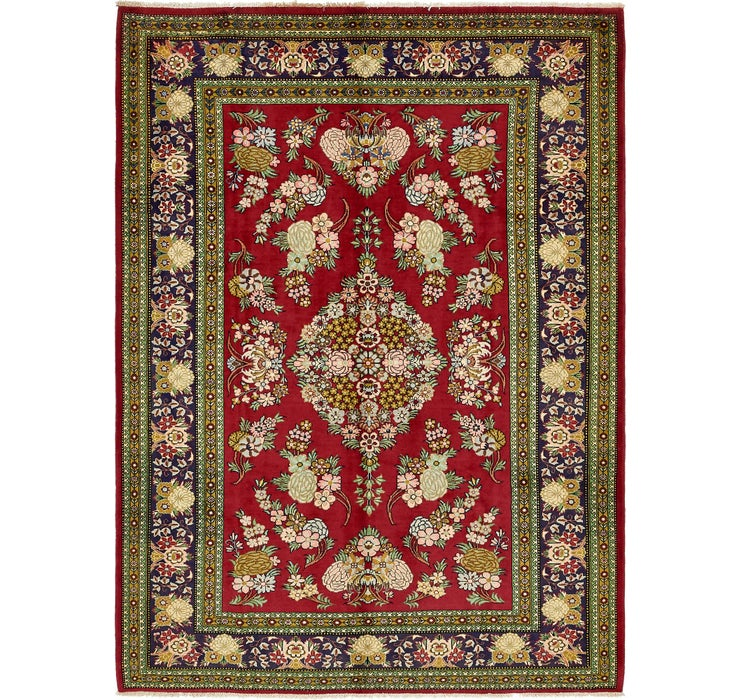 6' 10 x 9' 5 Qom Persian Rug