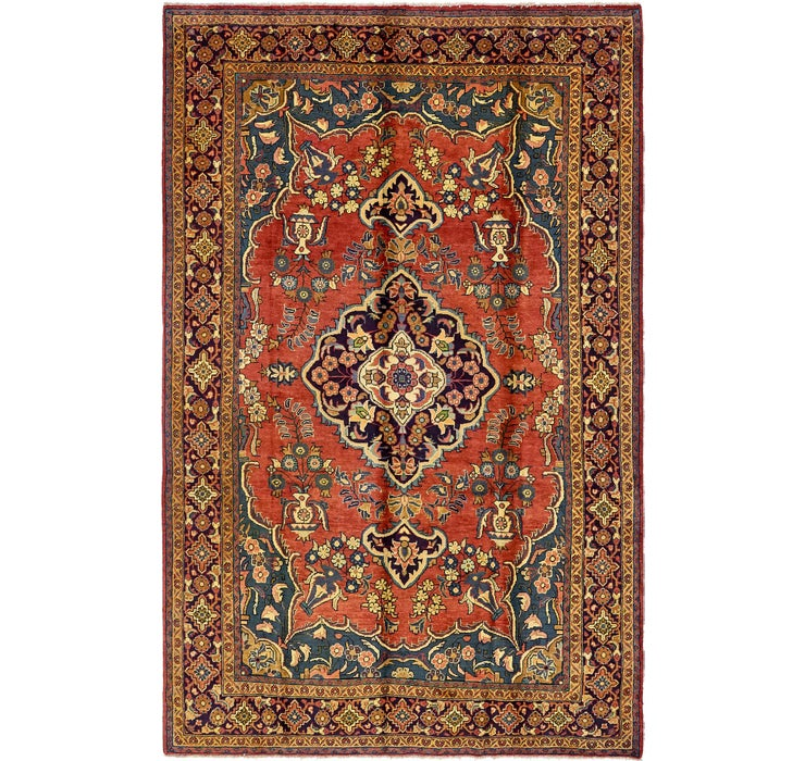 7' 3 x 11' 2 Sarough Persian Rug