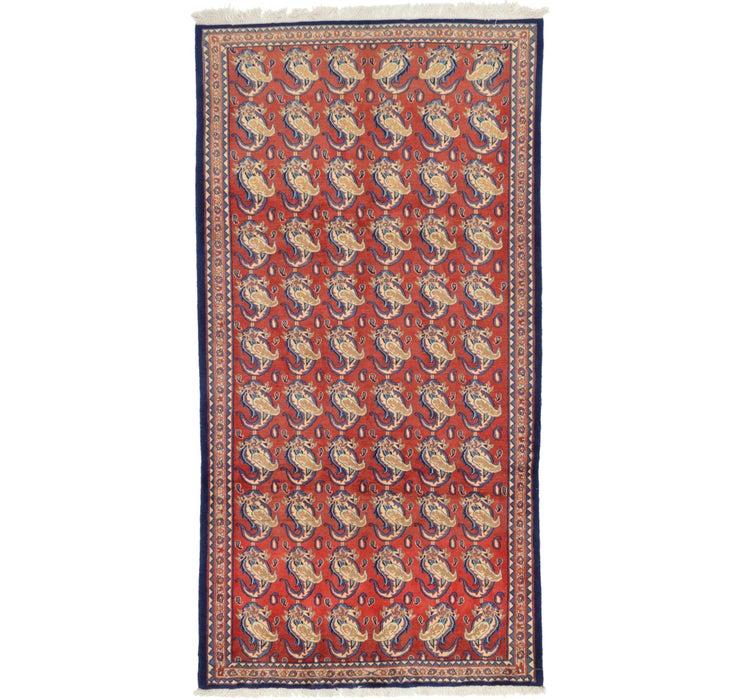 4' 10 x 9' 3 Sarough Persian Rug
