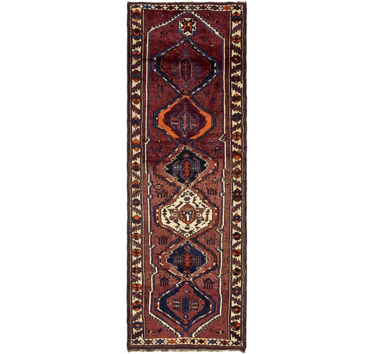 4' 3 x 12' 7 Shiraz Persian Runner Rug