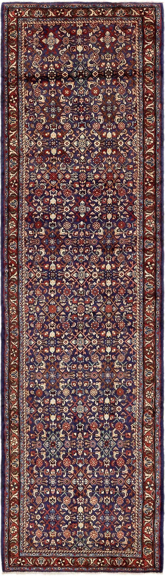 3' 8 x 13' 3 Hossainabad Persian Runner Rug main image
