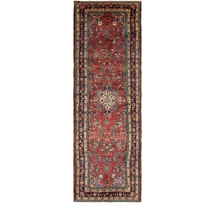 3' 7 x 10' 10 Khamseh Persian Runner ...