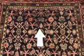 3' 6 x 10' 2 Hossainabad Persian Runner Rug thumbnail