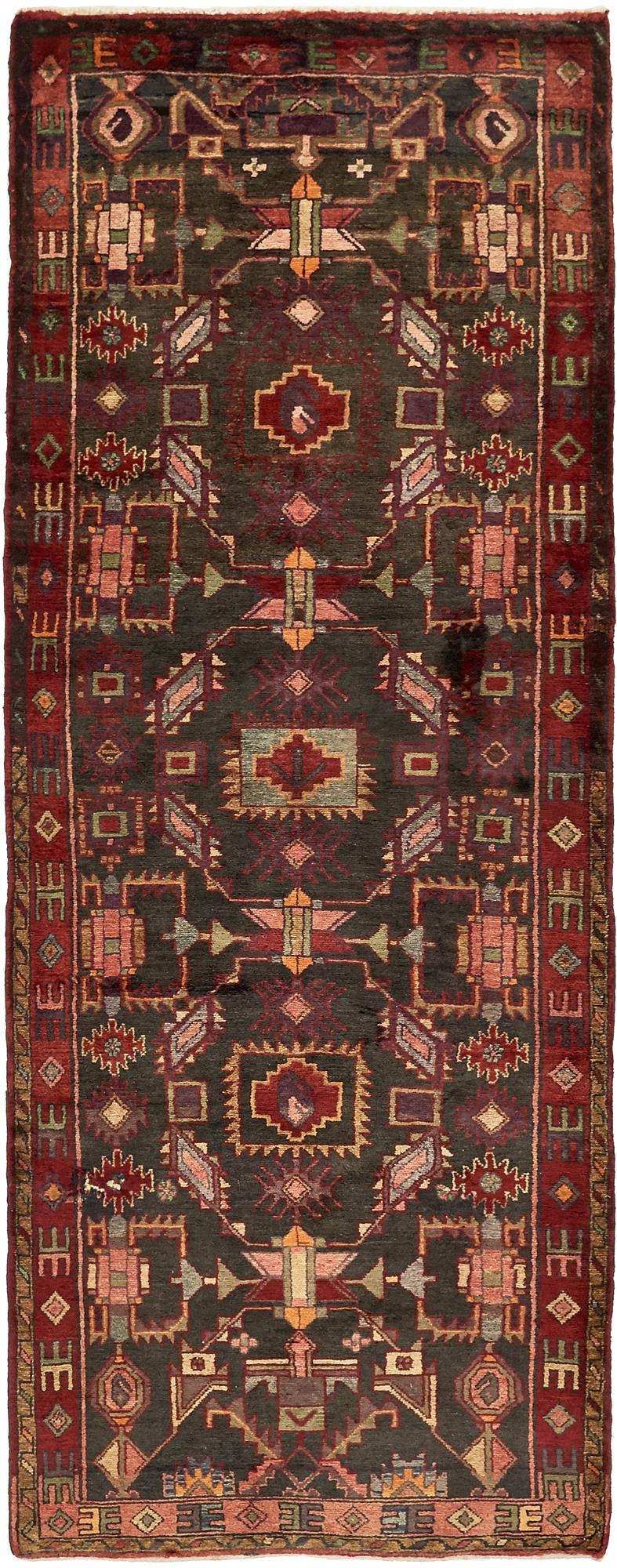 3' 9 x 10' 2 Hamedan Persian Runner Rug main image