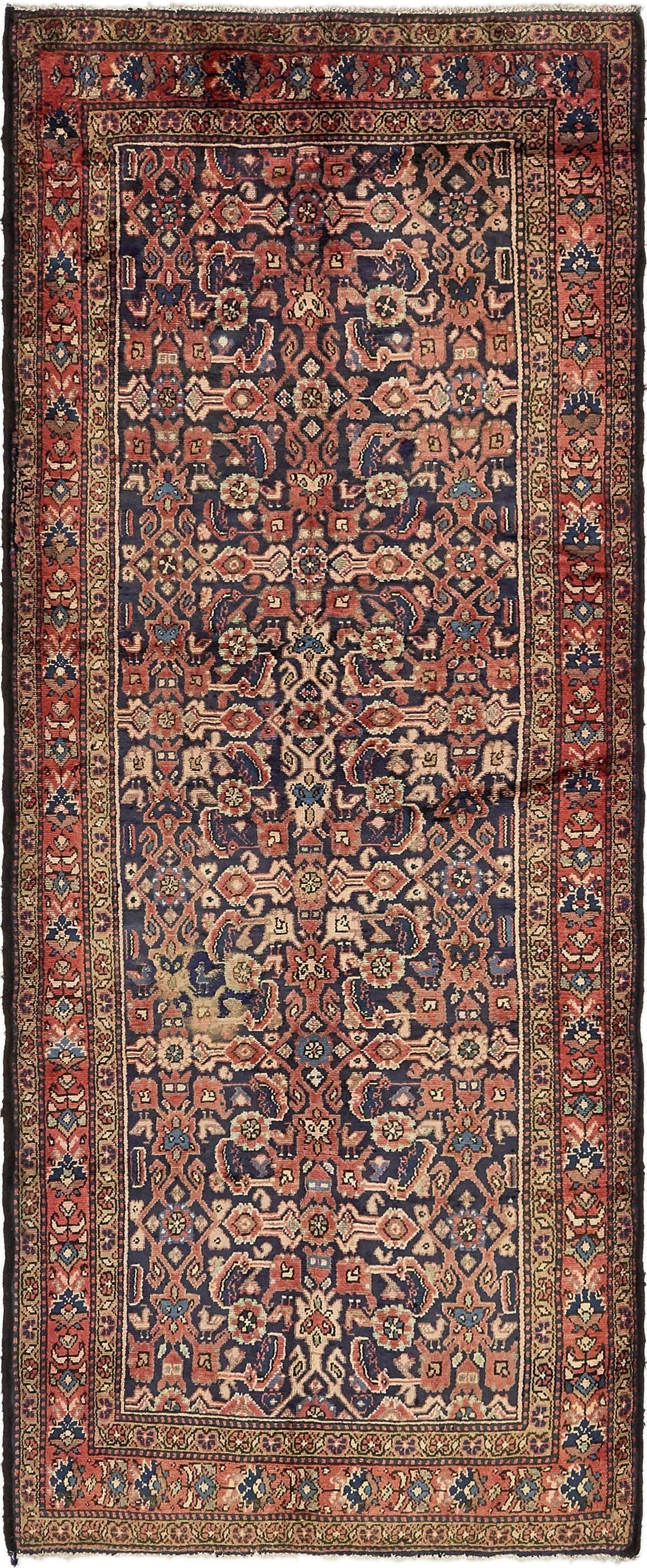 3' 8 x 9' 3 Hossainabad Persian Runner Rug main image