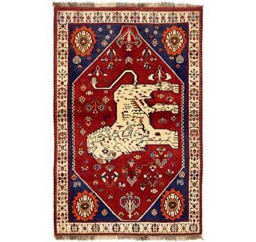 Image of 4' 2 x 6' 5 Ghashghaei Persian Rug