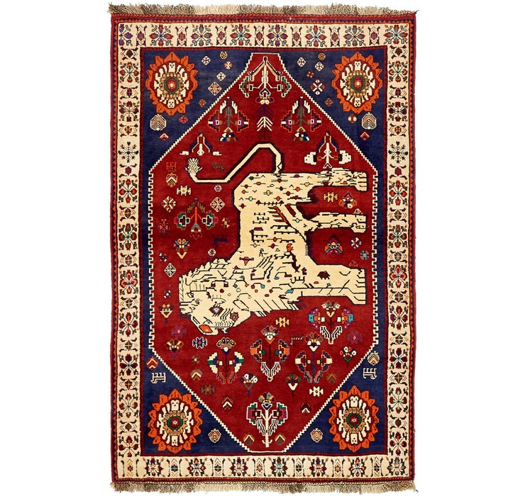 Image of 127cm x 195cm Ghashghaei Persian Rug