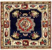 4' 10 x 5' 4 Bakhtiar Persian Square Rug thumbnail