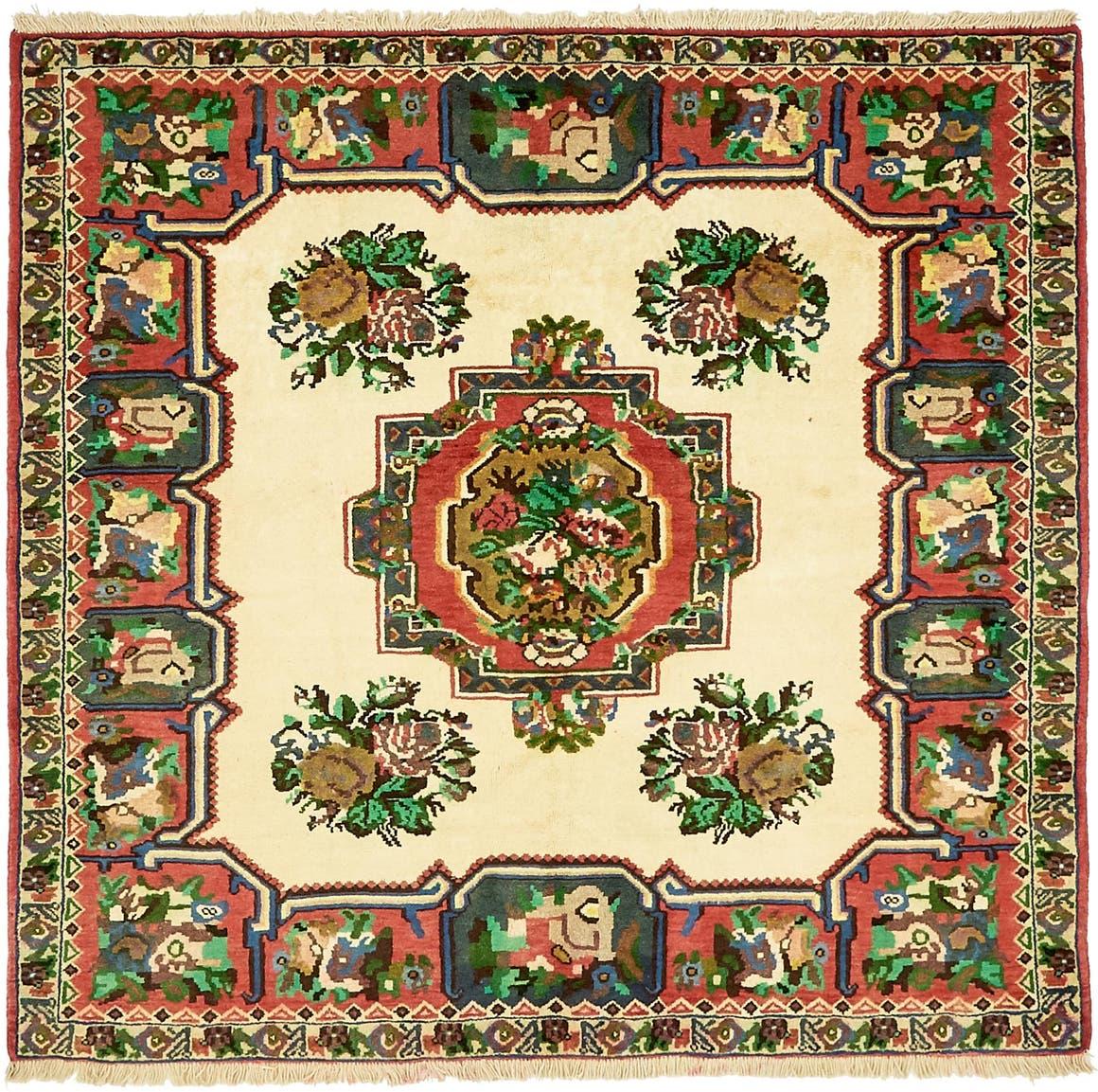 5' x 5' 3 Bakhtiar Persian Square Rug main image