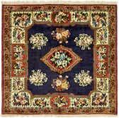 4' 11 x 5' 3 Bakhtiar Persian Square Rug thumbnail