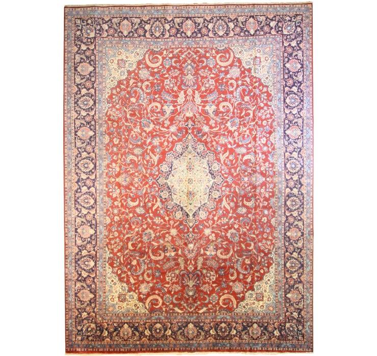 9' 9 x 13' 8 Sarough Persian Rug
