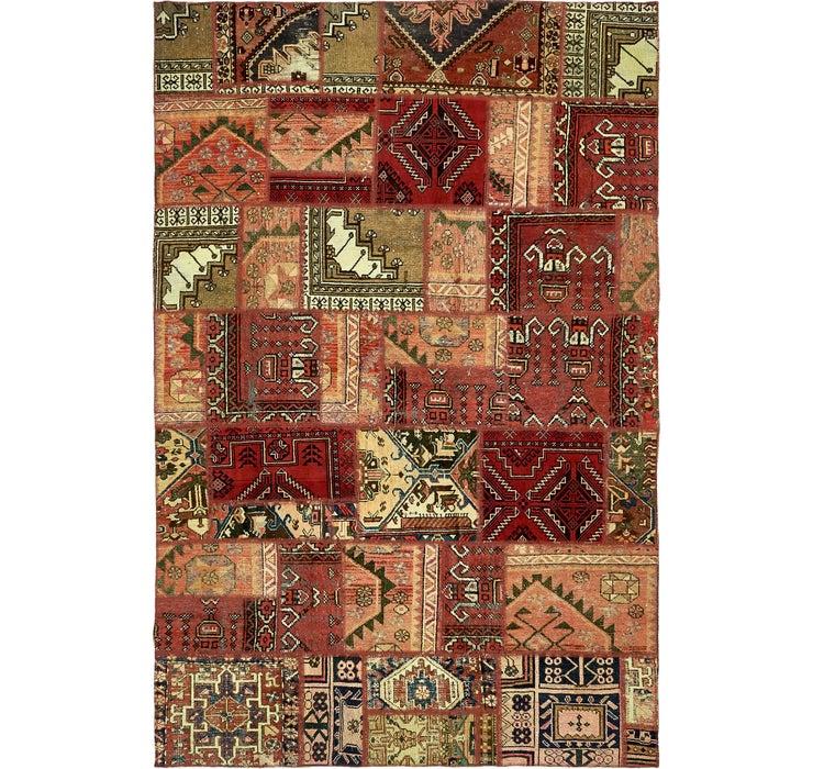 6' 7 x 10' 2 Ultra Vintage Persian Rug