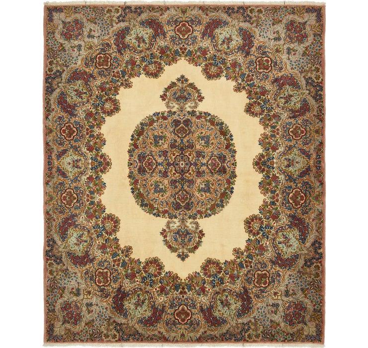 6' 10 x 8' Kerman Persian Square Rug