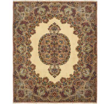 Image of 6' 10 x 8' Kerman Persian Square Rug