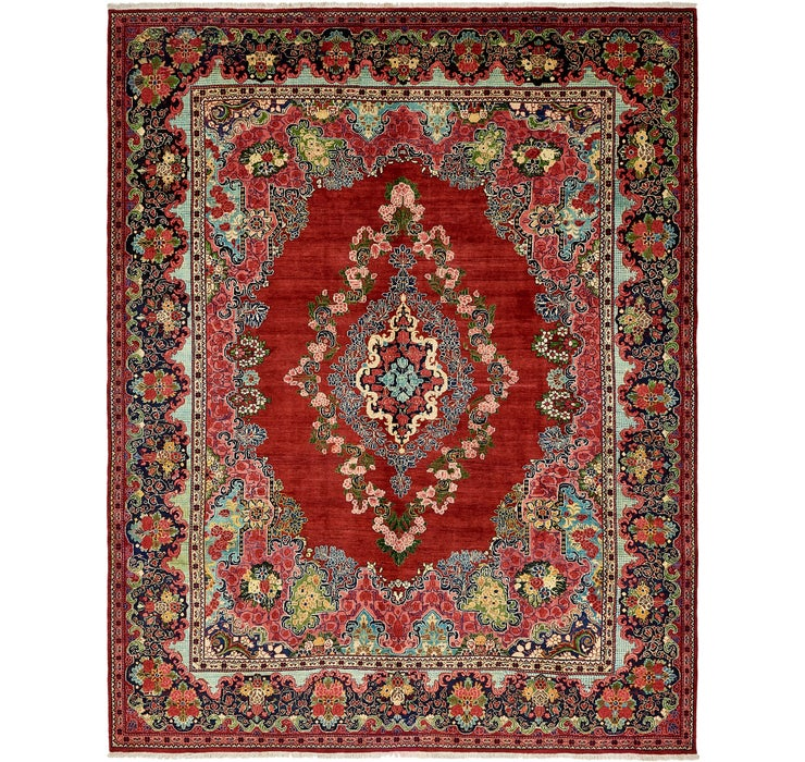 10' 6 x 13' 2 Meshkabad Persian Rug