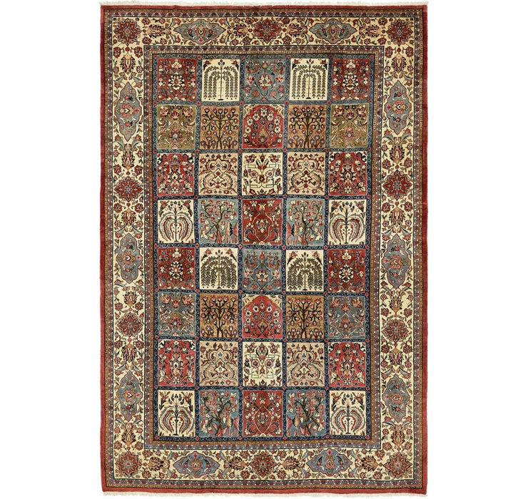 7' 2 x 11' Sarough Persian Rug