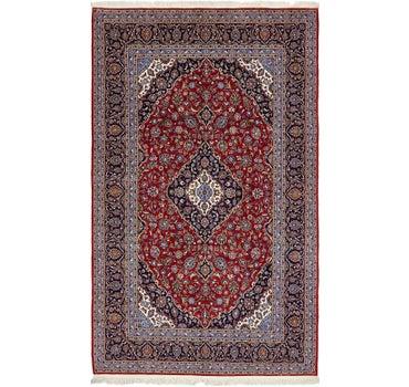 6' 7 x 12' 2 Kashan Persian Rug main image
