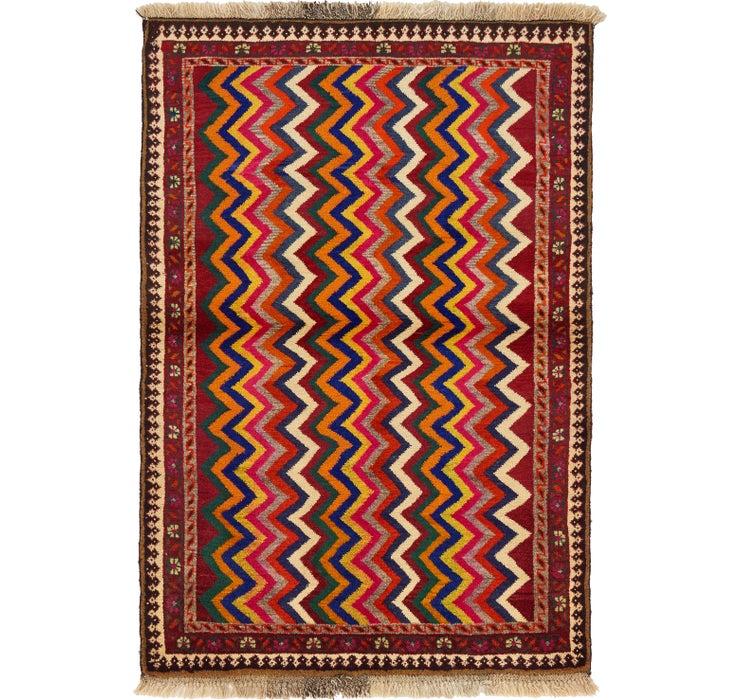 107cm x 152cm Shiraz-Gabbeh Persian Rug