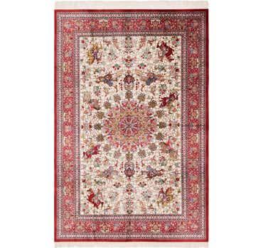 6' 6 x 9' 9 Qom Persian Rug