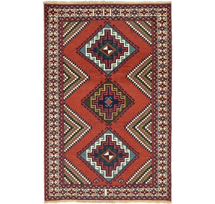 4' 1 x 6' 4 Ghoochan Persian Rug
