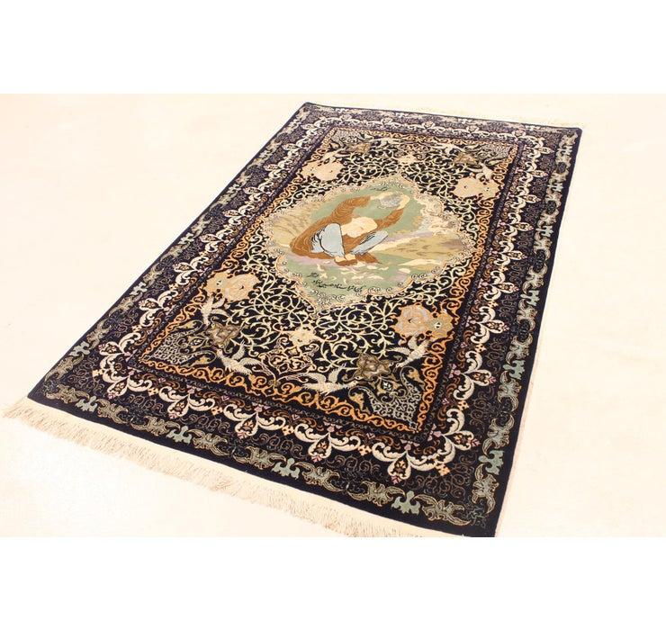 135cm x 210cm Kashan Persian Rug