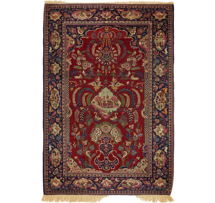137cm x 200cm Isfahan Persian Rug