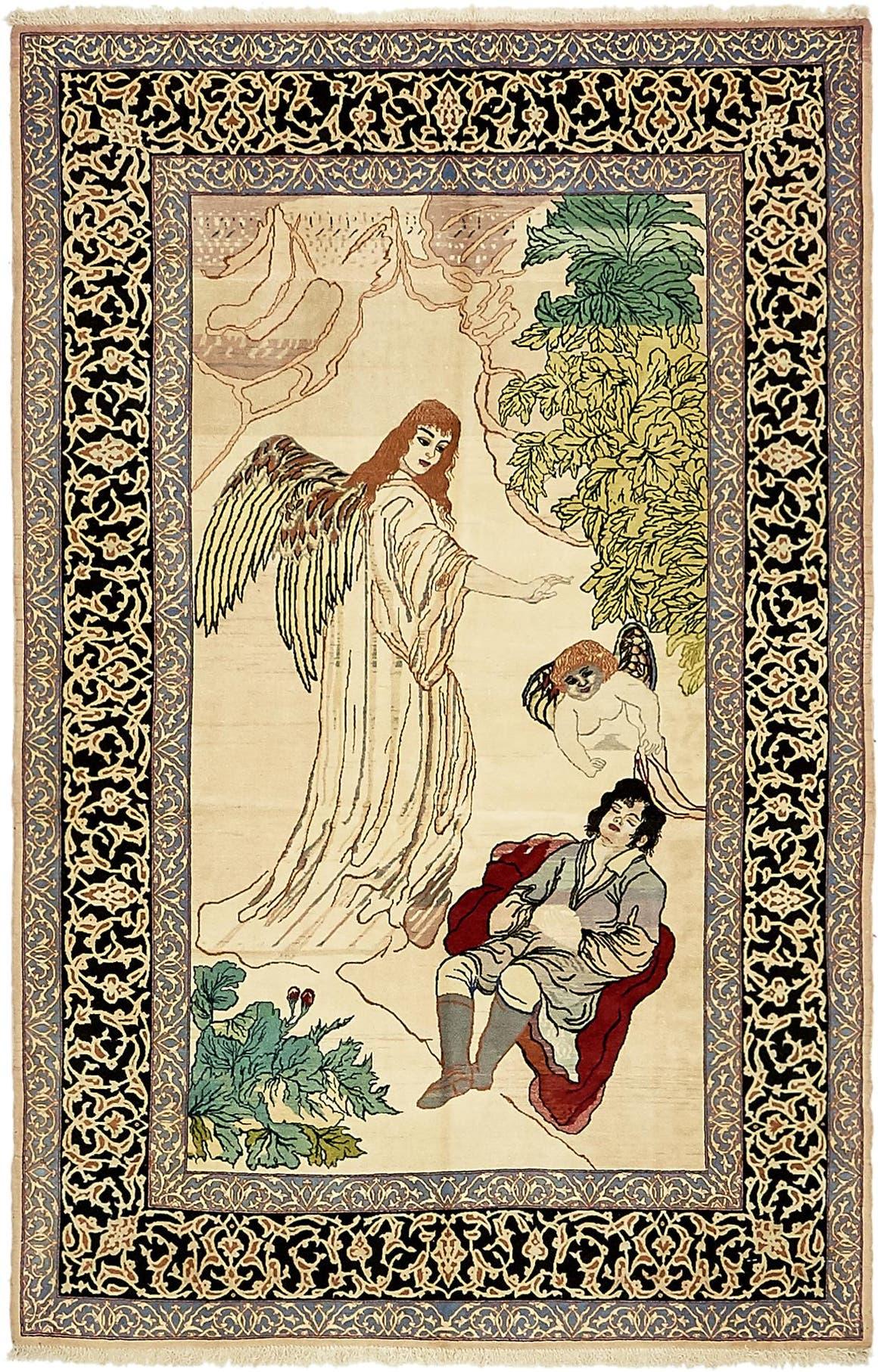 3' 5 x 5' 3 Isfahan Persian Rug main image