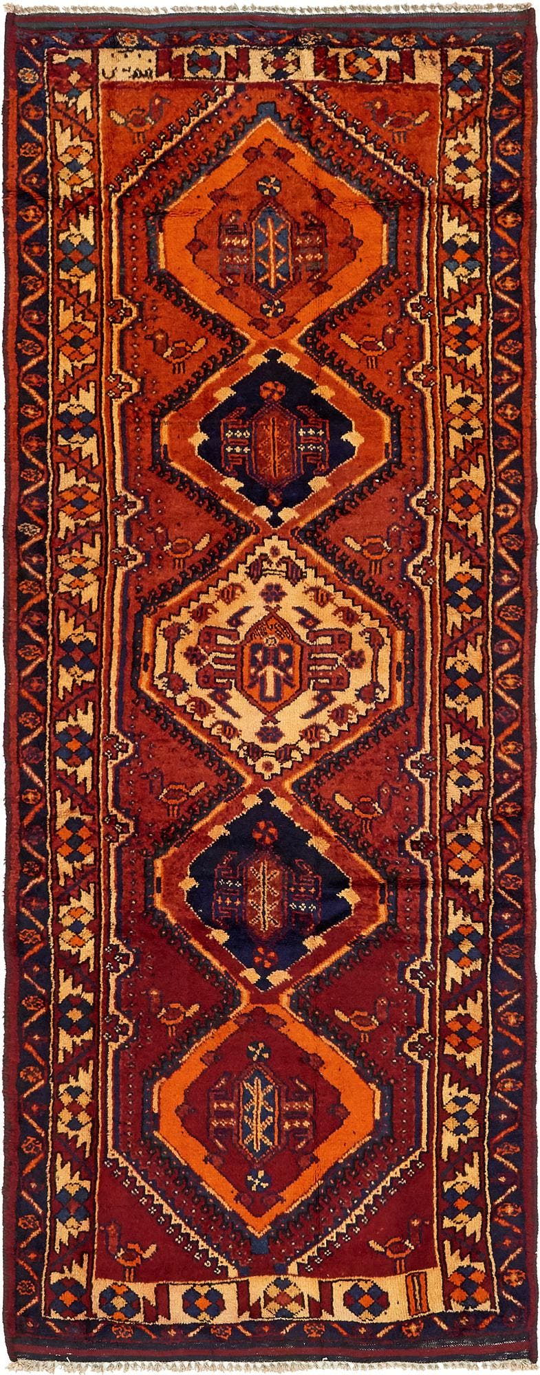 4' x 10' 4 Shiraz-Lori Persian Runner Rug main image