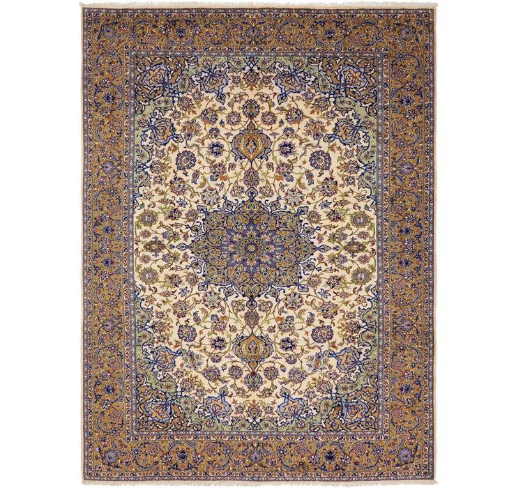9' 8 x 12' 11 Kashan Persian Rug