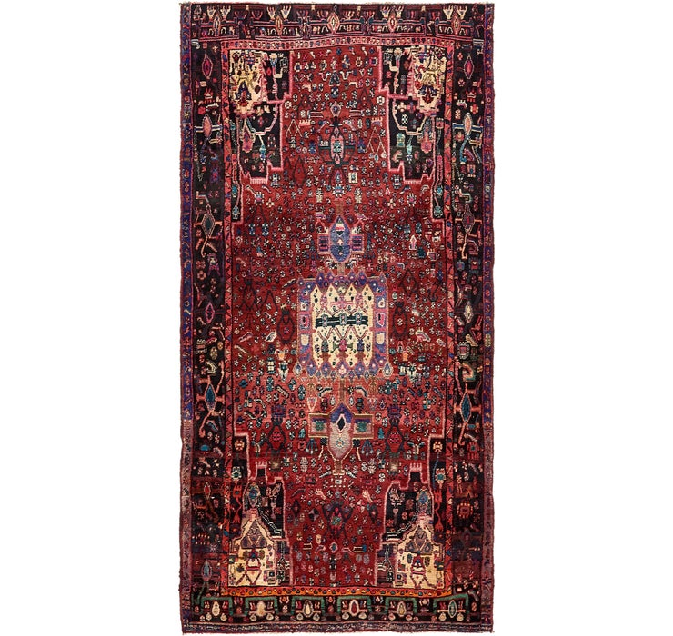142cm x 285cm Zanjan Persian Runner Rug