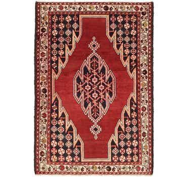 Image of 4' 3 x 6' 3 Mazlaghan Persian Rug