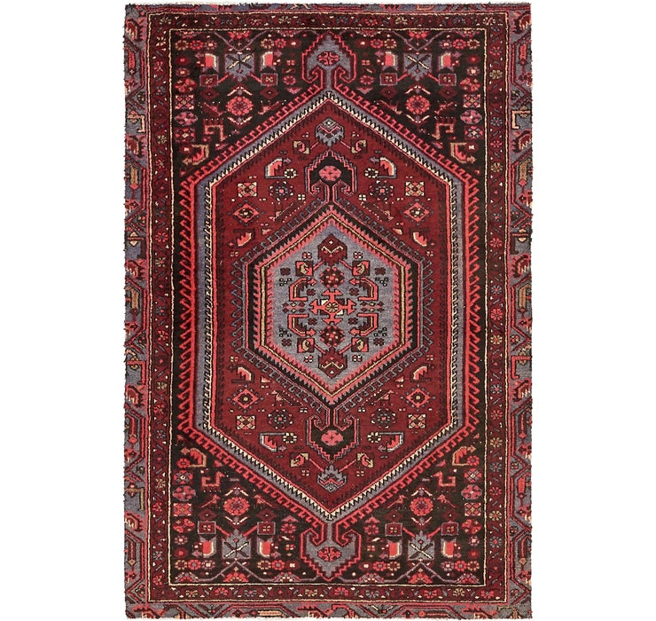 4' x 6' 1 Khamseh Persian Rug