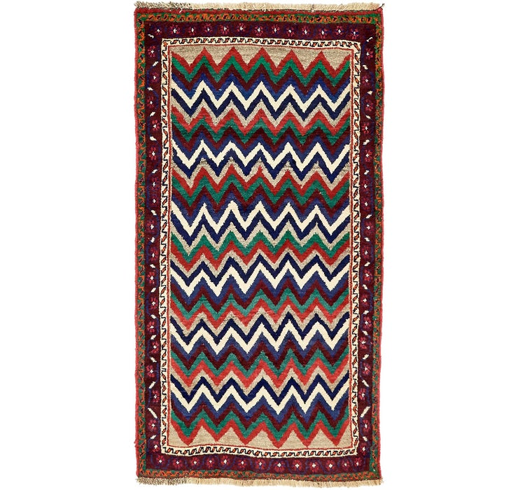 107cm x 195cm Shiraz-Gabbeh Persian Rug