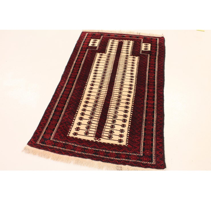 Image of 3' 1 x 5' 1 Balouch Persian Rug