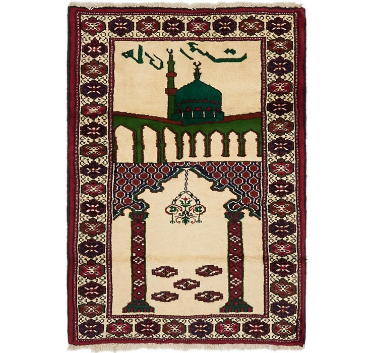 Image of 2' 8 x 3' 10 Balouch Persian Rug