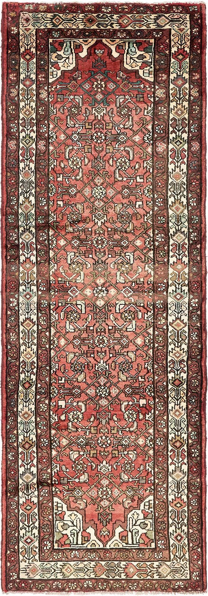 3' 5 x 10' 2 Hossainabad Persian Runner Rug main image