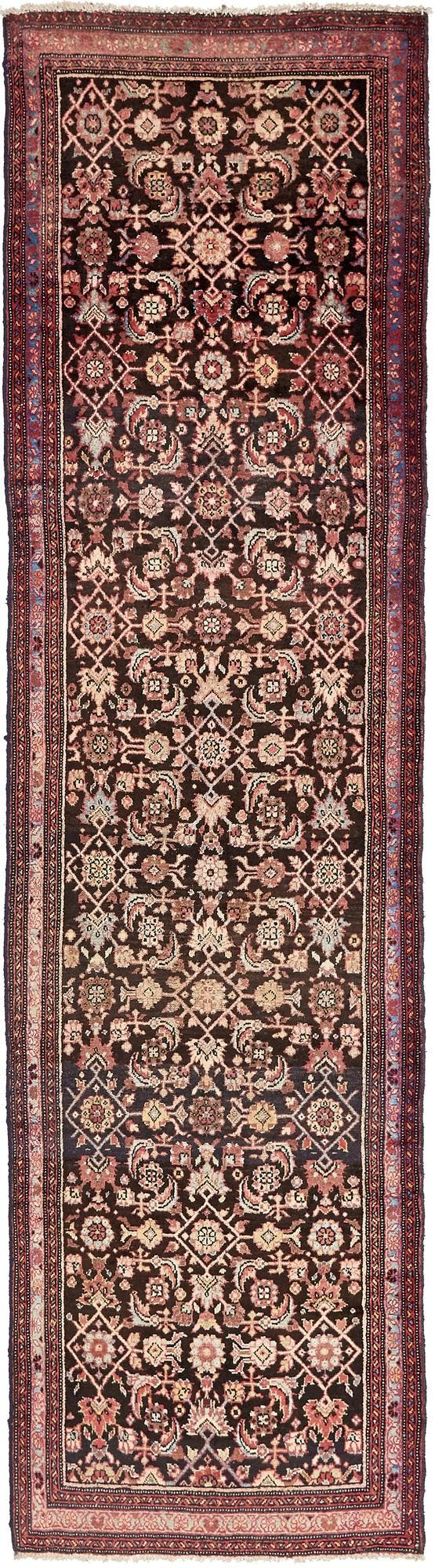3' 6 x 13' Hossainabad Persian Runner Rug main image