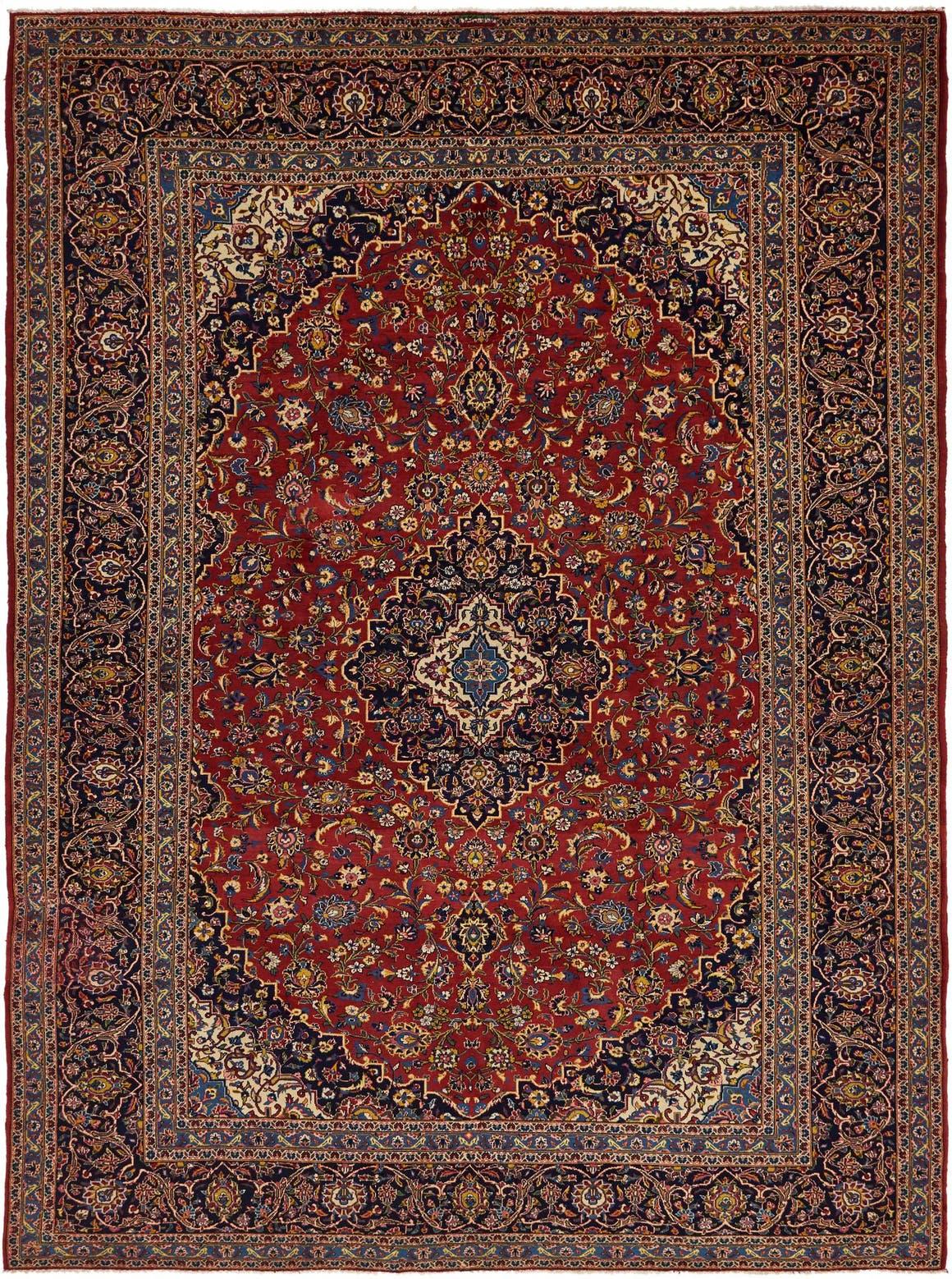 9' 6 x 13' Kashan Persian Rug main image