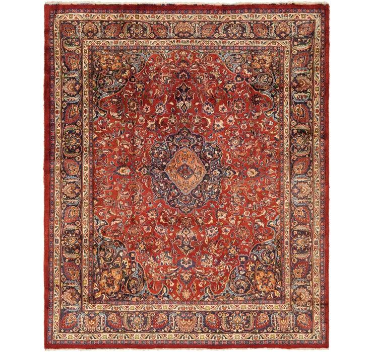 295cm x 363cm Mashad Persian Rug