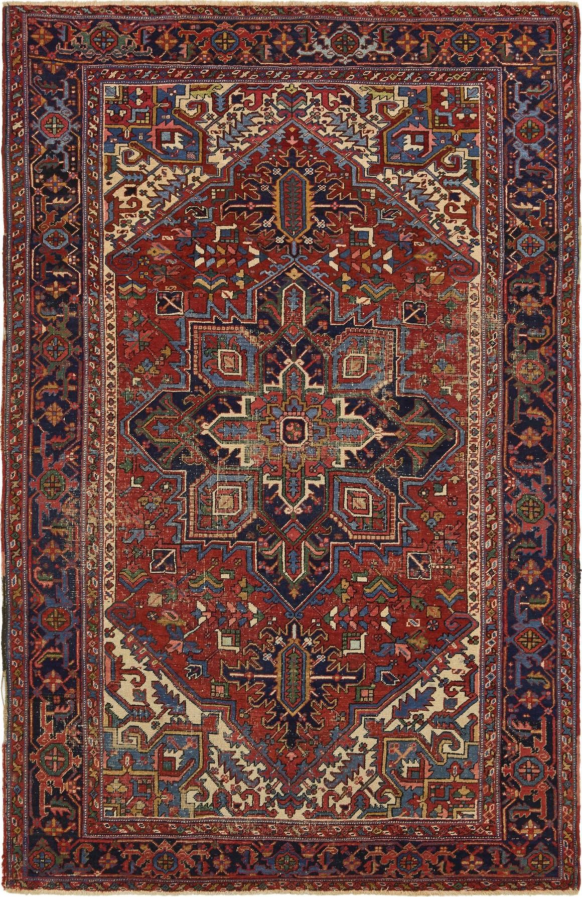 7' x 10' 8 Heriz Persian Rug main image