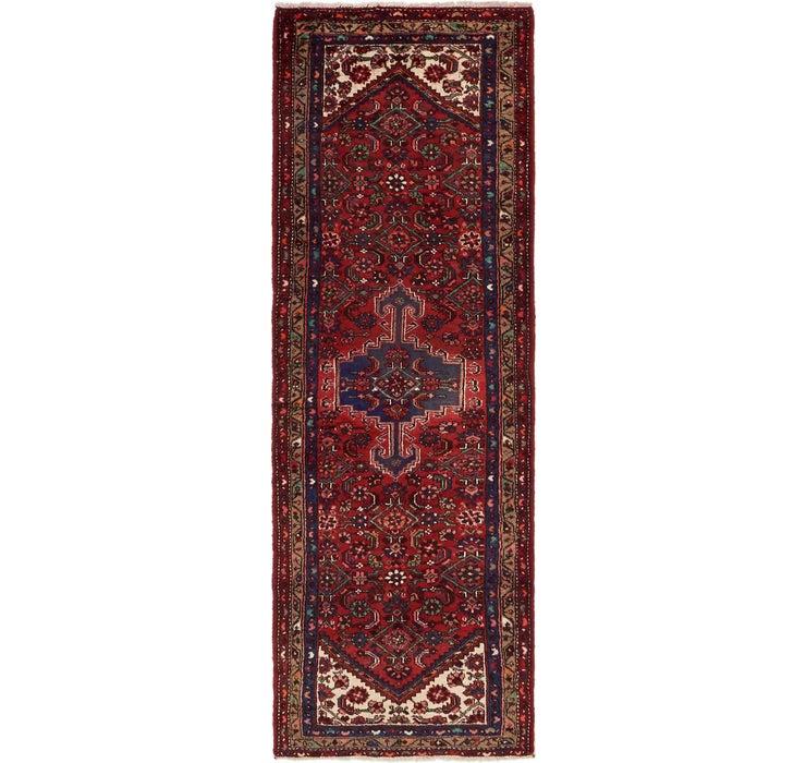 3' 4 x 9' 9 Zanjan Persian Runner Rug