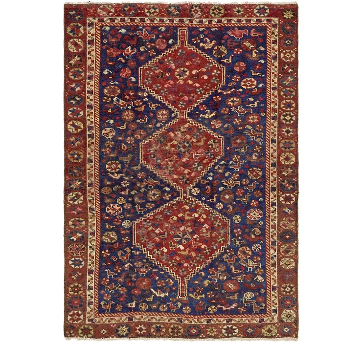 4' 6 x 6' 6 Shiraz Persian Rug