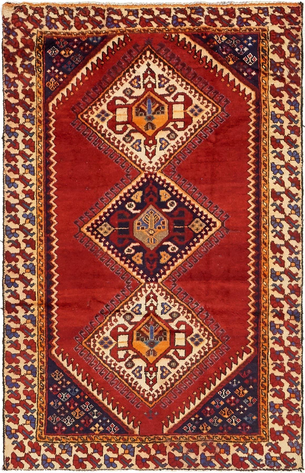 4' x 6' 6 Shiraz Persian Rug main image