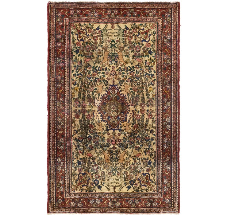 4' 3 x 6' 10 Gholtogh Persian Rug