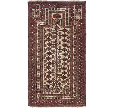 3' 1 x 5' 5 Balouch Persian Rug main image